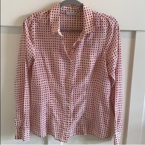 Halogen Pink and Cream Button Up